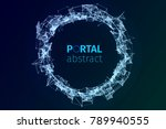 abstract portal illustration.... | Shutterstock .eps vector #789940555