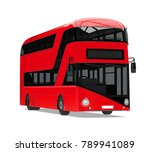 new london double decker bus... | Shutterstock . vector #789941089