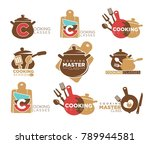cooking classes promotional...   Shutterstock .eps vector #789944581
