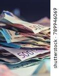 euro money euro banknotes euro... | Shutterstock . vector #789946069