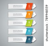 infographic banner with 5... | Shutterstock .eps vector #789948559
