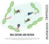 dna editing technology. crispr... | Shutterstock .eps vector #789950221