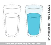 pure water glass to be traced... | Shutterstock .eps vector #789953221