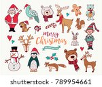 merry christmas happy new year... | Shutterstock . vector #789954661