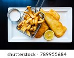 british traditional fish and... | Shutterstock . vector #789955684