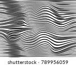 warped creative lines.warped... | Shutterstock . vector #789956059