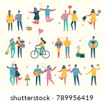vector valentine illustration... | Shutterstock .eps vector #789956419
