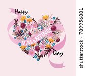 happy valentines day cards with ... | Shutterstock .eps vector #789956881