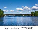 Road Bridge Across The Lake In...