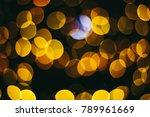 holiday night lights bokeh... | Shutterstock . vector #789961669