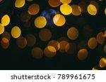 holiday night lights bokeh... | Shutterstock . vector #789961675