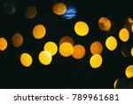 holiday night lights bokeh... | Shutterstock . vector #789961681