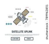 earth orbital satellite network ... | Shutterstock .eps vector #789962851