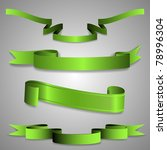 green ribbons | Shutterstock .eps vector #78996304