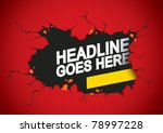 vector of abstract breaking... | Shutterstock .eps vector #78997228