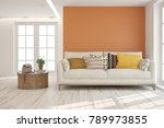 idea of white minimalist room...   Shutterstock . vector #789973855