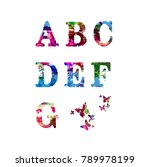 colorful font and alphabet... | Shutterstock .eps vector #789978199
