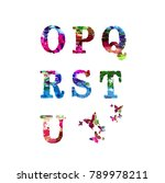 colorful font and alphabet... | Shutterstock .eps vector #789978211