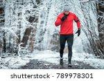 winter running training  runner ... | Shutterstock . vector #789978301