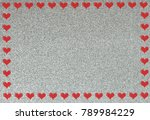 shiny background as valentines... | Shutterstock . vector #789984229