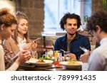 technology  leisure and people... | Shutterstock . vector #789991435