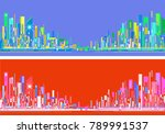 futuristic city skylines at day ... | Shutterstock . vector #789991537