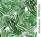 watercolor seamless pattern... | Shutterstock . vector #789992101