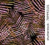 watercolor seamless pattern... | Shutterstock . vector #789992131