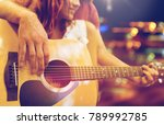music  sale  people  musical... | Shutterstock . vector #789992785