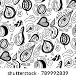 seamless pattern of hand drawn...   Shutterstock .eps vector #789992839