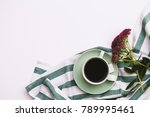 coffee cup  glasses on white... | Shutterstock . vector #789995461