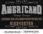 vintage font alphabet vector... | Shutterstock .eps vector #789999295