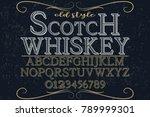 vintage font alphabet vector... | Shutterstock .eps vector #789999301