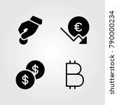 bank vector icons set. dollar... | Shutterstock .eps vector #790000234
