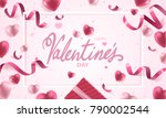 happy valentines day holiday... | Shutterstock .eps vector #790002544