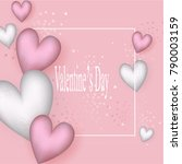 happy valentines day. | Shutterstock .eps vector #790003159