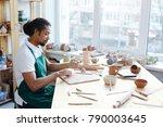 african american artisan in...   Shutterstock . vector #790003645