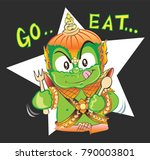 thai giant tell you want to go... | Shutterstock .eps vector #790003801