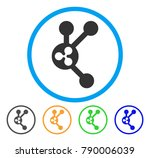 ripple connect nodes rounded... | Shutterstock .eps vector #790006039