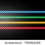 laser rays  high energy loaded...   Shutterstock .eps vector #790006285
