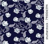 paisley ornamental seamless... | Shutterstock .eps vector #790006594
