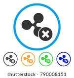 decline ripple rounded icon.... | Shutterstock .eps vector #790008151