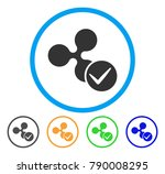 accept ripple rounded icon.... | Shutterstock .eps vector #790008295