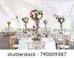interior of a wedding tent... | Shutterstock . vector #790009387