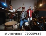 band of young drummer ... | Shutterstock . vector #790009669