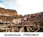 the colosseum  famous...   Shutterstock . vector #790014814