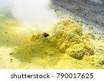 ebeko volcano  paramushir... | Shutterstock . vector #790017625