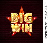 big win casino star frame... | Shutterstock .eps vector #790023847