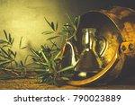 artisan extra virgin olive oil. ...   Shutterstock . vector #790023889