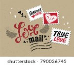 lettering love mail in the form ... | Shutterstock .eps vector #790026745